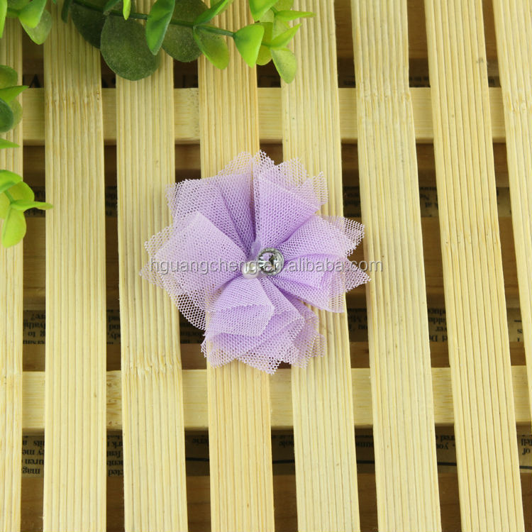 Fashion hair flower shabby chiffon flowers wholesale for wedding