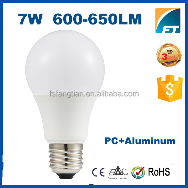 Wholesale 7W SMD Plastic B22 E26 E27 led light bulb A19,led bulb light