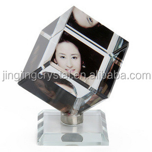 Crystal Cube For 3D Laser Engraving of promotional gifts in people love