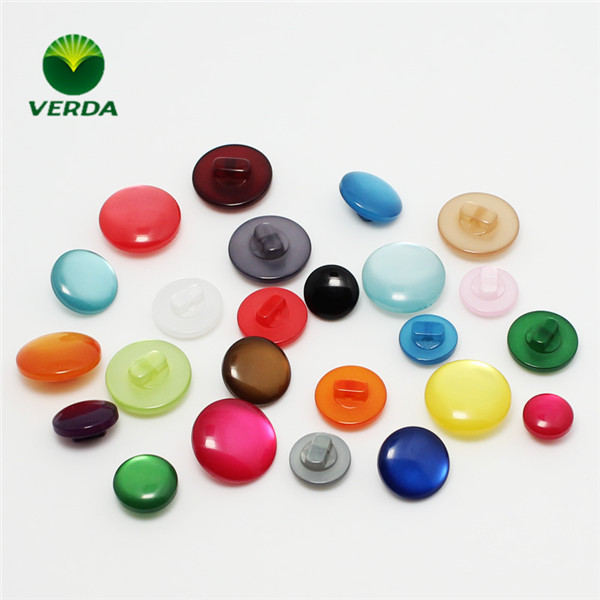 Candy colors,polyester plastic button, pearl Shank button with Various Colors