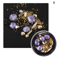 1 Box Hot 3d Charm Nail Art Design Stone Decorations Alloy Mini Beads Gems Mixed Strass Rhinestones