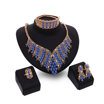 18k gold plated saudi arabia designer jewelry sets