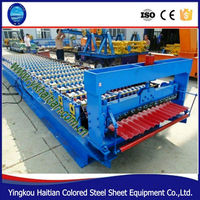 Nigeria Saudi Arabia ,South Africa, Used Corrugated Sheet Metal Roof Panel Roll Forming Machine