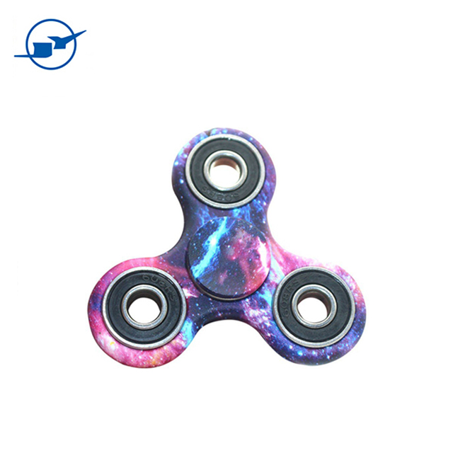 colorful marble pattern finger spinner hand fingertip gyro top