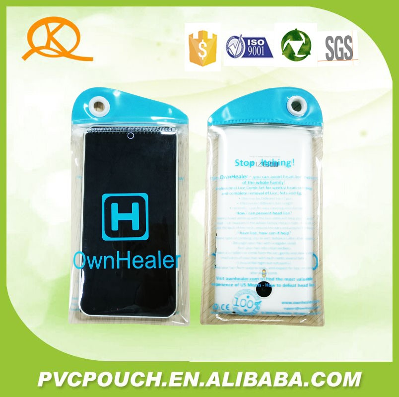 Bulk buying transparent mobile phone plastic bags with own logo