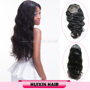 Factory Supply Directly Wholesale 100 Brazilian Virgin Body Wave Hair, Human Hair Full Lace Wig