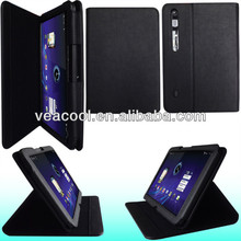 Black Fashionable Lichee Pattern PU leather case skin For Motorola Xoom Case