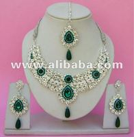 Silver Plated jewellery Diamond Rings Necklace Set. ph. 0091 9756300115