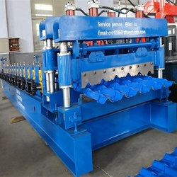 Glazed Iron Sheet Roll Forming Line Metal Roof Tile Making Machine for sale Africa