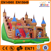 Hot sale cheap low price inflatable triple water slide