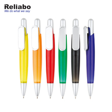 Reliabo Promotional Advertising Slogan Custom Shaped Clip Private Label Ball Pens Plastic