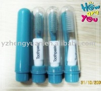 travel/airline/hotel toothbrush with toothpaste