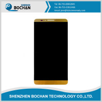 low price big screen mobile phones Original New lcd for huawei mate 7 gold