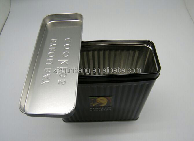 cheap book shaped book shaped tin box/ laser printing food packaging/ business card tin can
