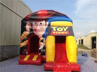Popular Cartoon Combo/ Woody inflatable bounce house/ jumper castles for Kids