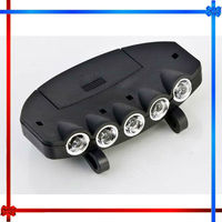 New!!! Clip-On 5 LED Fishing Camping Head Light