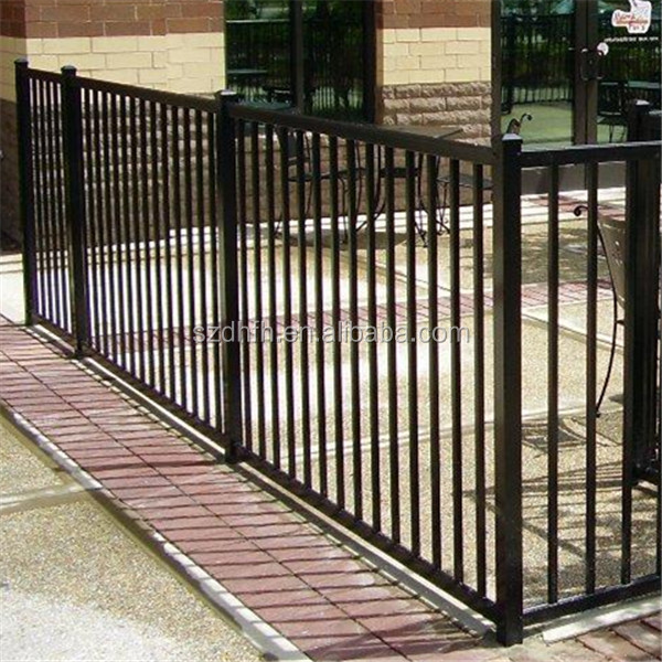 galvanized flat panel fence gates