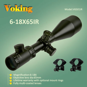 Voking/OEM 6-18X65IR riflescope with red and green illuminated reticle China wholesale rifle scope military optic