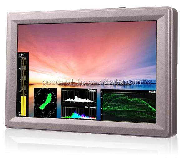 "G70 7"" Aluminum Design IPS 1920x1200 Full HD 3G-SDI On-camera Mount LCD Monitor with Waveform, VectorScope, Histogram"