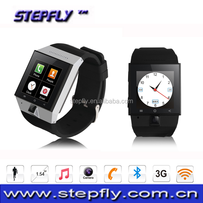 (SF-S55)1.54 inch capacitive touch screen bluetooth 4.0 WIFI GPS 3G WCDMA Android Watch Phone