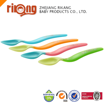 Non-toxic Baby Color Changing Hard Plastic Spoon