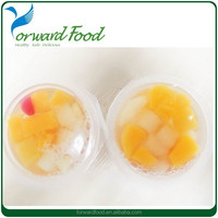 assorted fruit in cup canned fruit cocktail cup
