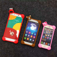 Cartoon universal silicone border cell phone case for iPhone 5 6 6s 6 plus