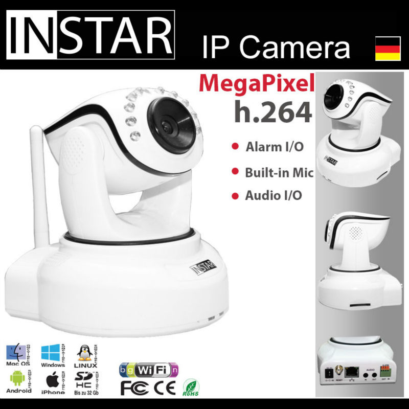 INSTAR IN-6012HD PoE Camera ONVIF Support, Internal Storage, 720p