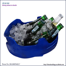 Hockey helmet plastic beer cooler wine cooler