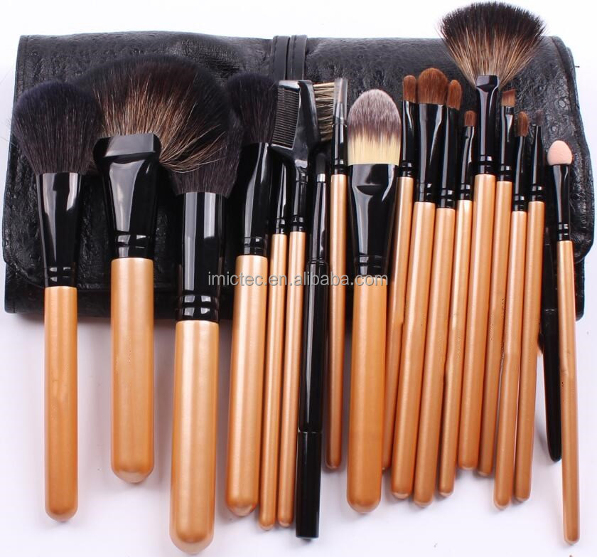 Synthetic Hair Brush Set with Brush Roll ,Pro Perfect 15 Brush Set ,20 Piece Original Wooden Make Up Brush Set with Free Case