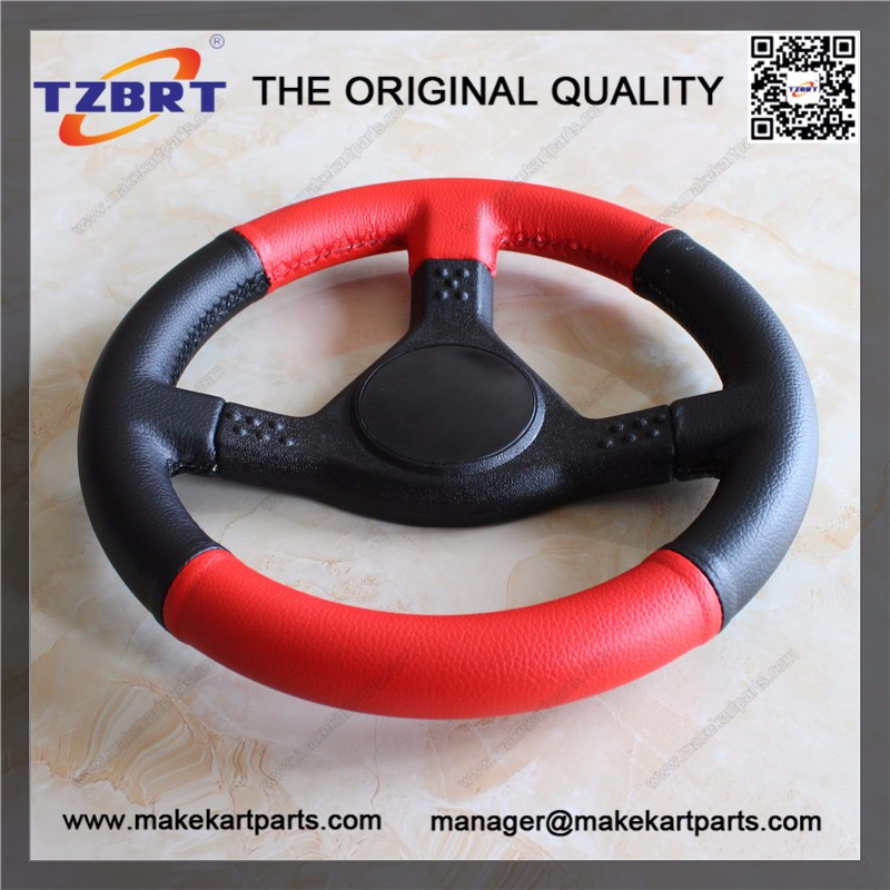 High quality go kart part 265mm steering wheel for sale