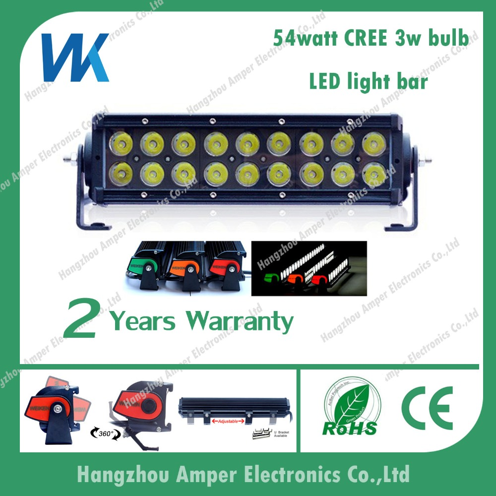 China supplier double row 54w 10inch car accessories led light bar for atv,truck,auto parts