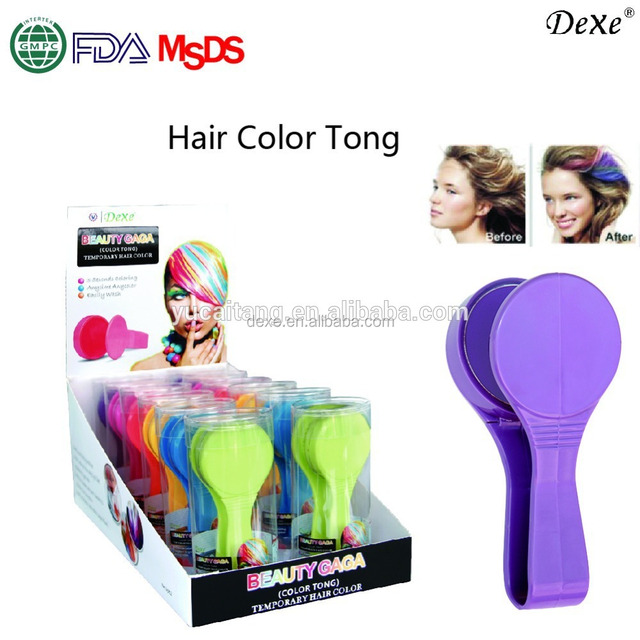 colored chalk powder, crazy hair color for party
