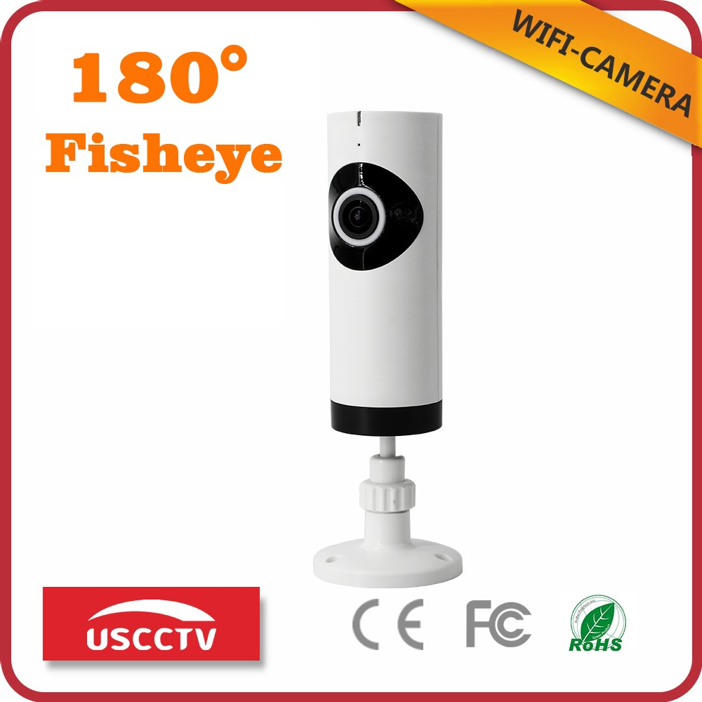 USC new model home security wifi fisheye cctv hidden ip audio and video desk 180 degree camera with sd card slot