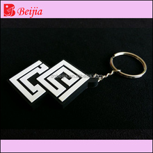Custom 3D embossed soft pvc silicone keychain/rubber key chains/keyring for hotel