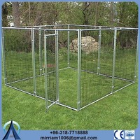 Cheap or galvanized comfortable handmade dog kennel