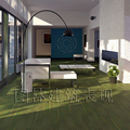 Distressed Bamboo Flooring Wire Brushed Vertical Bamboo Flooring Emerald Green Color