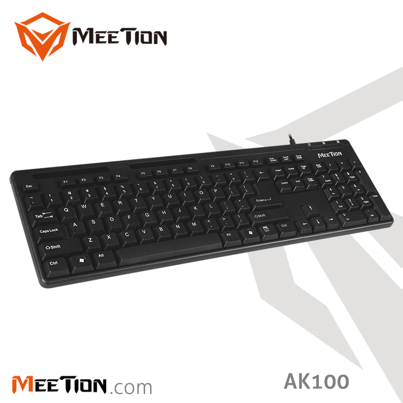 Meetion Brand Cheapest Standard USB Wired Keyboard For Laptop