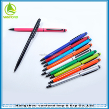 Novelty small thin corporate promotional gifts metal pen in stylus pen