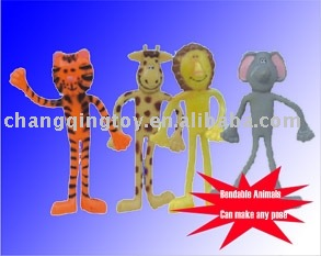 Bendable Animal Funny Toys Plastic Toys, Toy Animal,Bendable animal toys