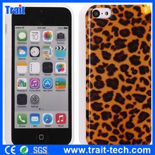 Leopard Pattern Glitter Powder IMD Craft TPU Back Case for iPhone 5C