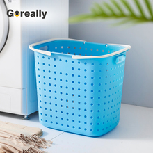 Used dirty clothes basket laundry bin container