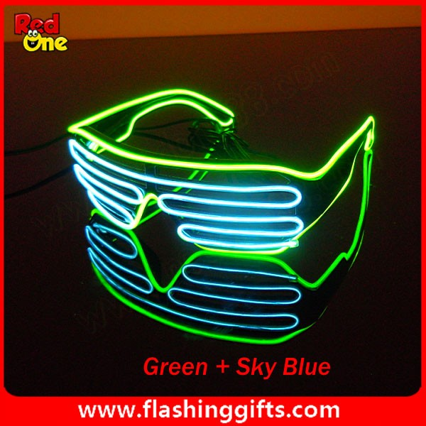 Flashing glasses led sunglasses el wire sunglasses Shutter EL Wire ...