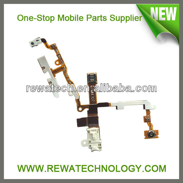 Latest Headphone Audio Jack Flat Cables for IPhone 3GS Repair Parts
