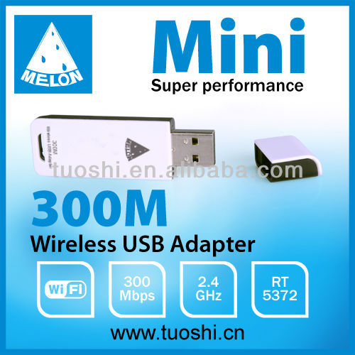HOT SALE !2015 MELON M30 RT5372 mini wifi wireless usb adapter, 300Mbps, Plug and Play high power 300mw