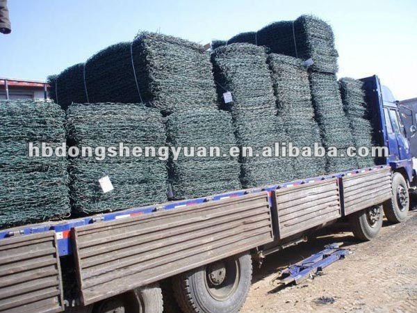 China supplier hexagonal mesh 8cmx10cm hole opening galvanized steel wire gabion basket prices