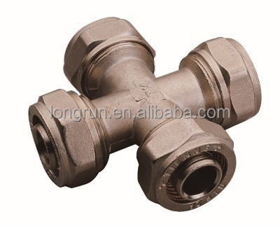 Lead Free Cross 4 Way Copper Fitting