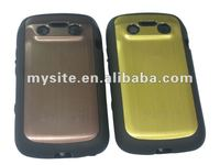 Metal+TPU Cell Phone Combo Case for BlackBerry 9900