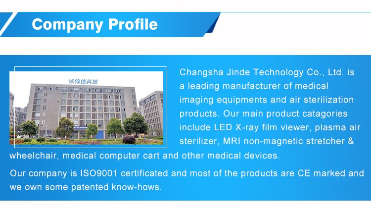top brand JINDE medical LED film viewer, view box x-ray reader
