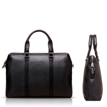Business Men Document Briefcase Leather Laptop Bag Vintage